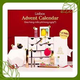 nhiều nhãn hàng_Lixibox Advent Calendar 2019