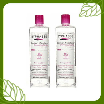Byphasse_Combo 2 Chai Nước Tẩy Trang Byphasse Solution Micellaire 500ml